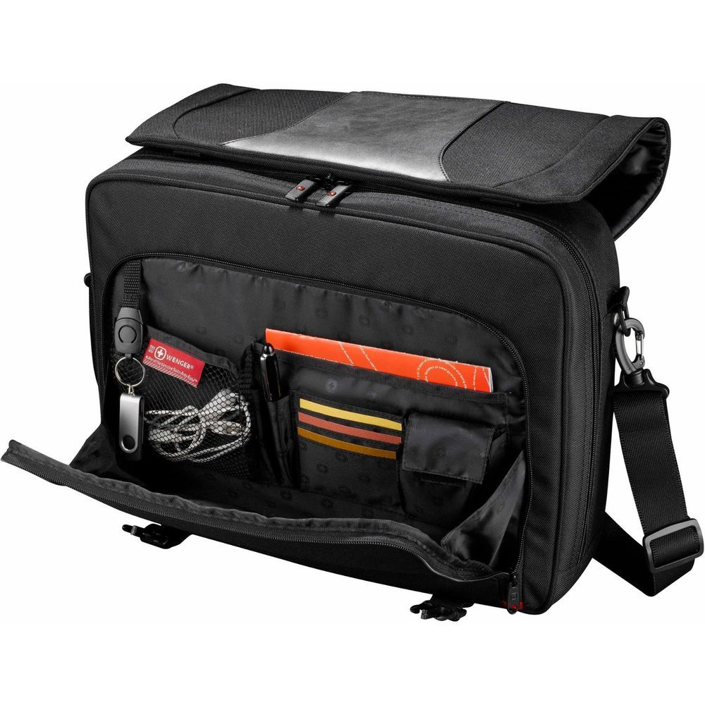 "Wenger Transit 17"" Laptop Messenger Bag, Swissgear Black Laptop Messenger Bag #Wenger #MessengerShoulderBag"