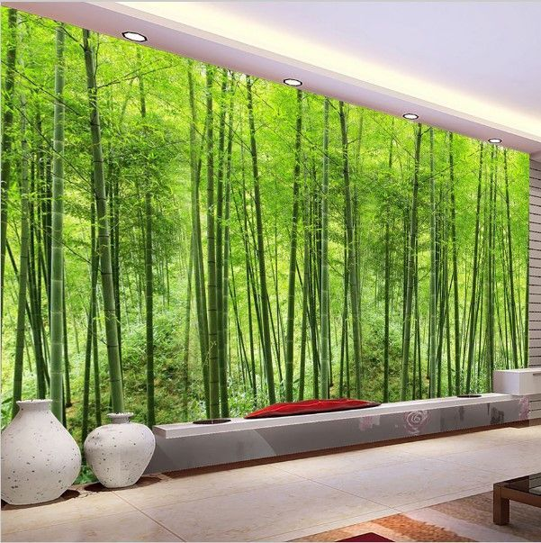 3d Modern Green Bamboo Trees Forest Wall Mural Wallpaper 3d Wallpaper For Walls Wall Painting Living Room Custom Photo Wallpaper