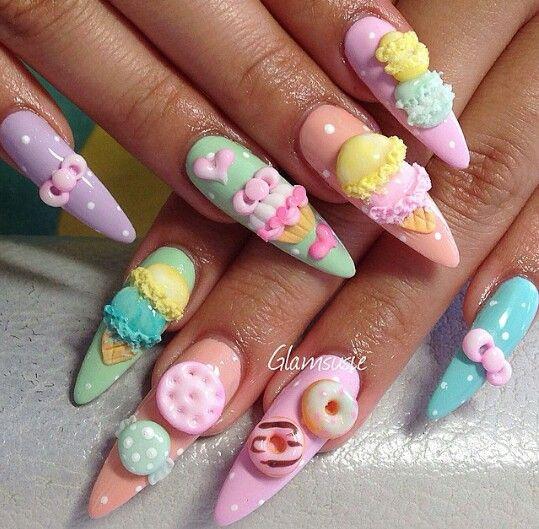 Glamsusie Kawaii Nail Art Nail Art Best Acrylic Nails