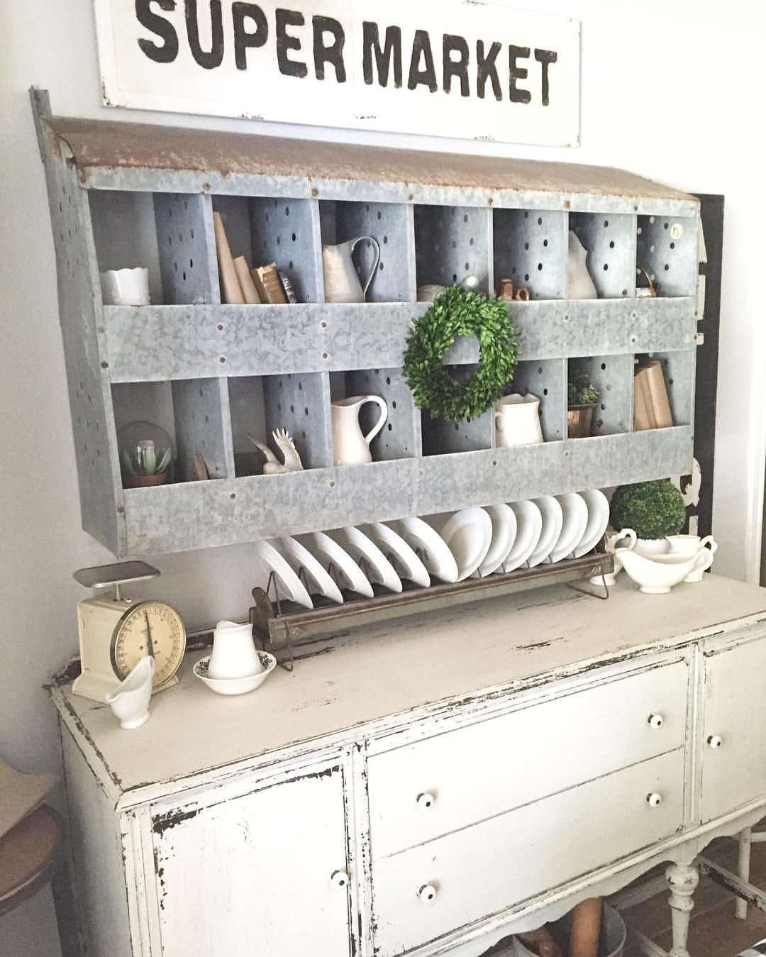Nesting Box Wall Decor And Buffet Farmhouse
