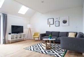Gulfhof polder72   Wohnung 9 Dornum  - Wohnbereich