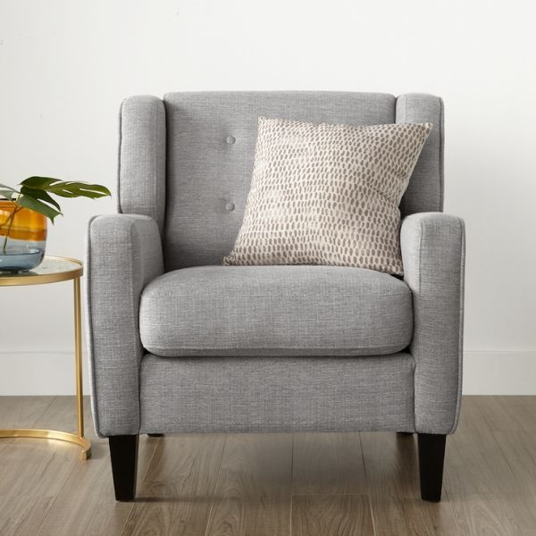 Stella Accent Chair Light Grey Living Room Furniture Accent