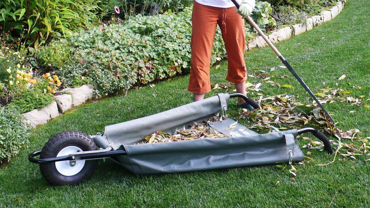 Allsop Garden Wheeleasy Foldable Canvas Wheelbarrow Yard Cart Wheelbarrow Garden Tools