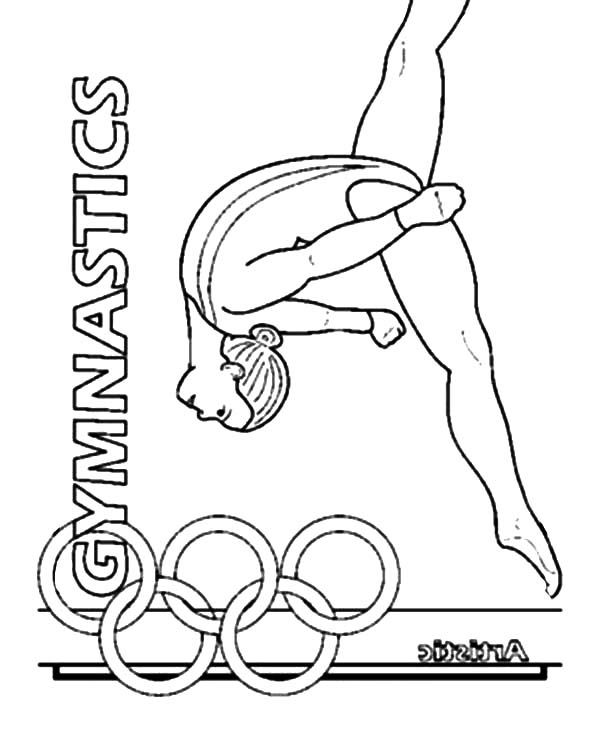 Gymnastics Girl Olympic Coloring Pages