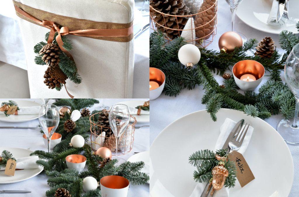 Feestdagen Kersttafel Aankleden : De kersttafel dekken voor het kerstdiner: sfeer in wit & koper
