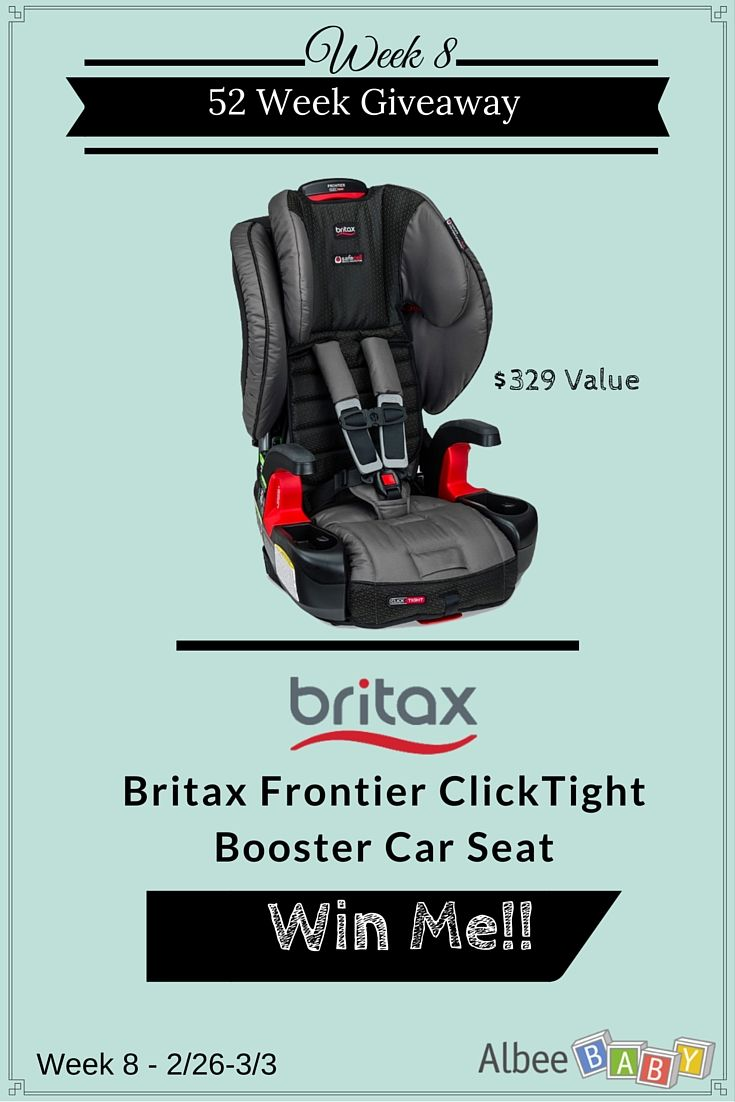 Enter To Win A Britax Frontier ClickTight Booster Car Seat From AlbeeBaby During Their 52 Weeks Of Giveaways Contest