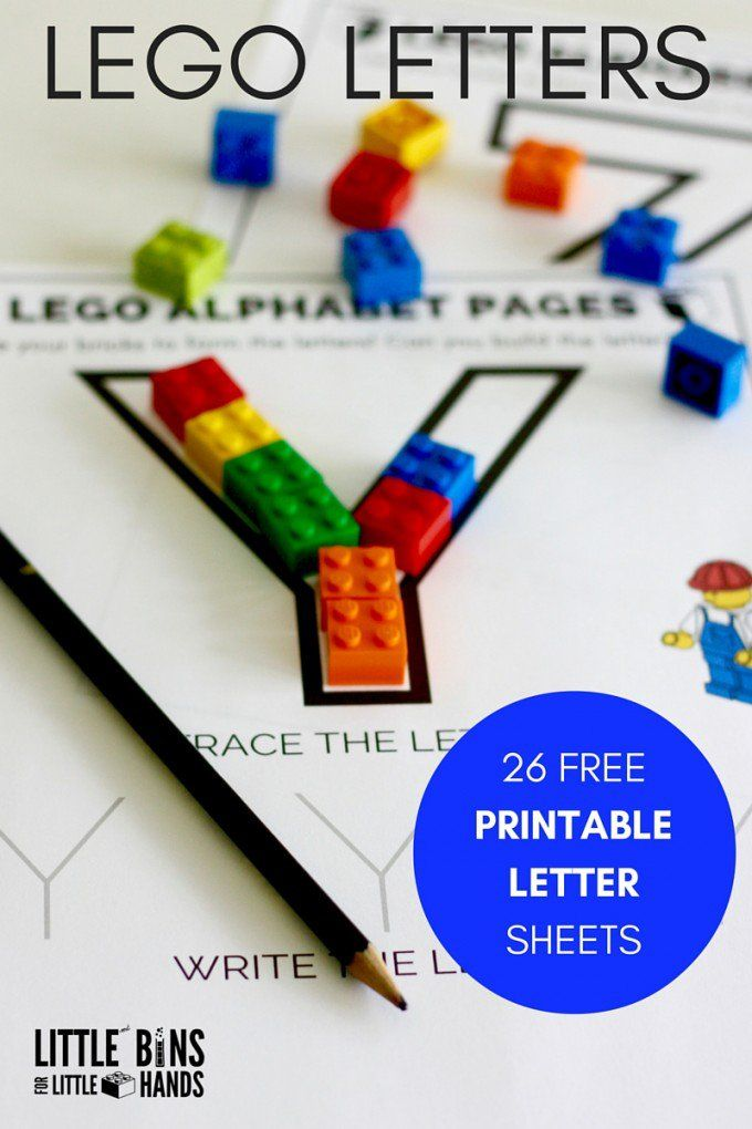 LEGO Letter Activity And Free Printable Letter Sheets | Pinterest ...