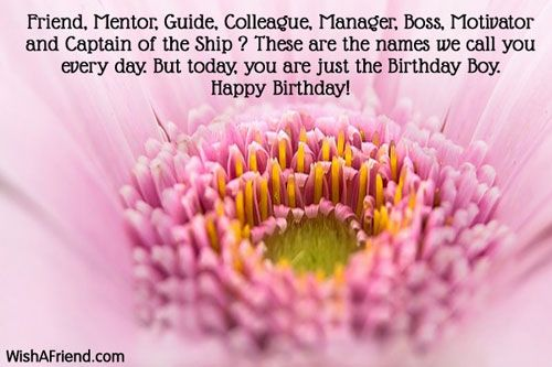 Birthday Wishes Male Colleague ~ Friend mentor guide colleague manager birthday wishes for boss pinterest