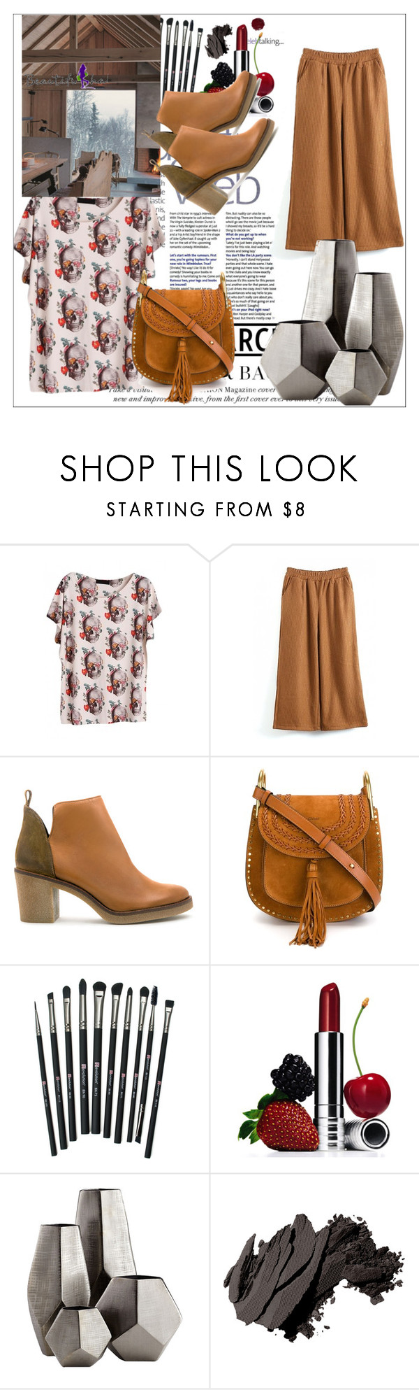 """Beautifulhalo II/33"" by ljubicica988 ❤ liked on Polyvore featuring Miista, Chloé, Revolution, Clinique, Cyan Design, Bobbi Brown Cosmetics and bhalo"
