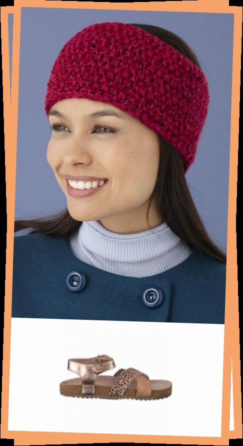 Photo of Seed Stitch Headband In Lion Brand Vannas Glamour – L10658  Knitting Patterns  LoveKnitting