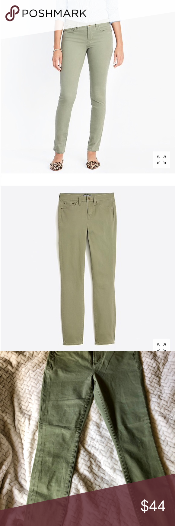 """04ded3427b JCrew Factory Cargo color 8"""" mid rise skinny pant NWT Cotton/rayon/elastane"""