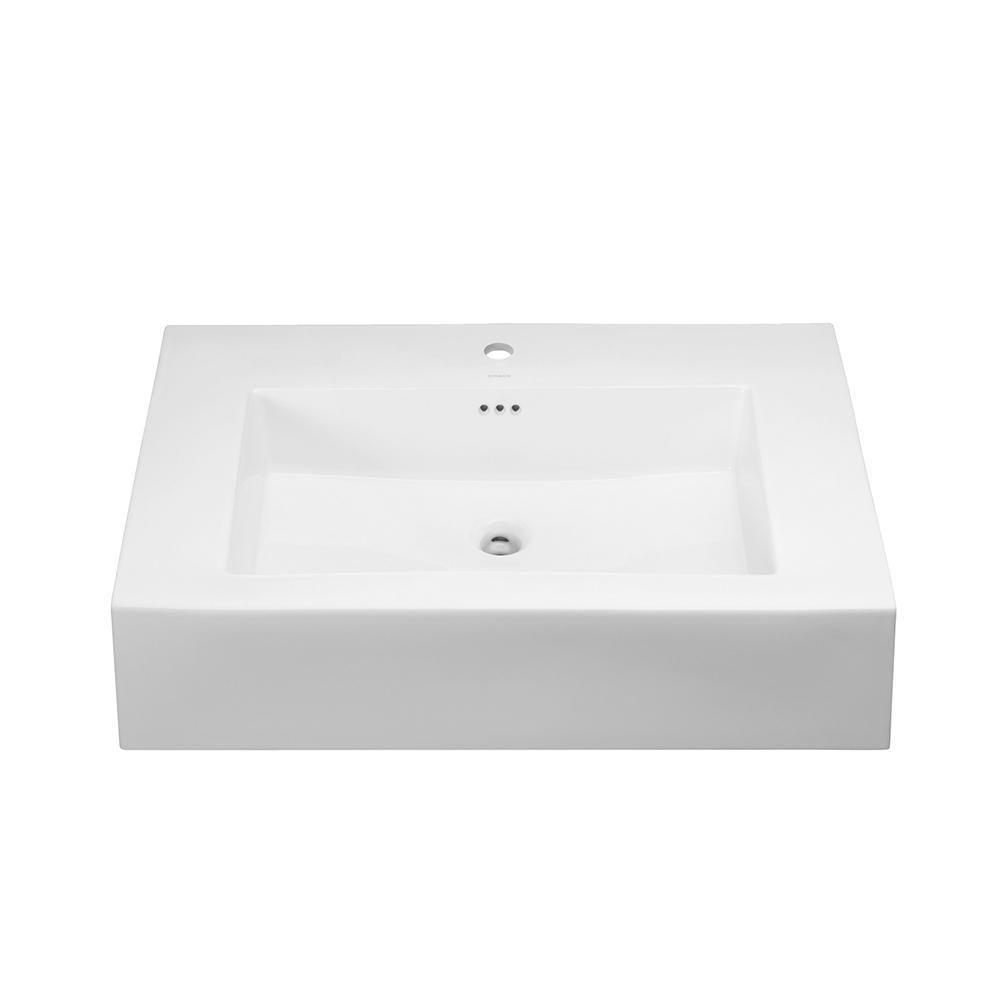 Avanity Versastone Matte White Solid Surface Integral Single Sink