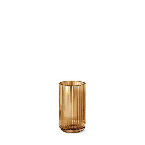 Lyngby vasen - Amber glas 15 cm