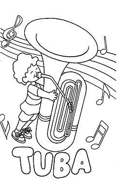 Fichas Para Pintar Instrumentos Musicales Dibujos De Instrumentos Musicales Instrumentos De Viento Clases De Música De Primaria
