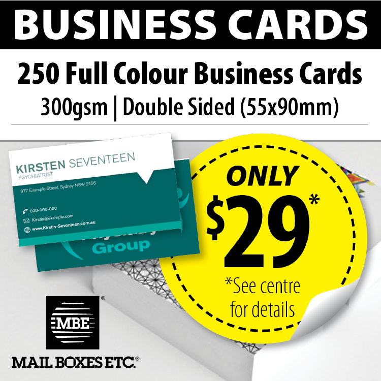 250 Business Cards = $29 #eofy #discount #coupon #business #printing ...