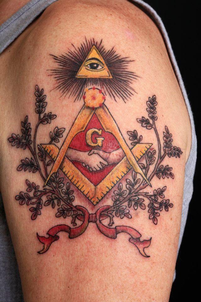 Mason Or Stonemason Tattoo By Tom Salwoski Of Chroma Tattoo  Michigan   Chromatattoo
