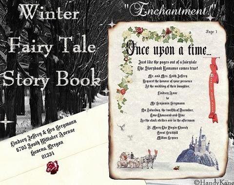 qty 50 winter castle carriage fairytale wedding invites, birthday, Wedding invitations