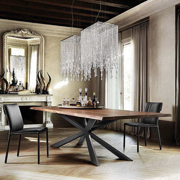 Cattelan Italia Spyder Wood Dining Table Wooden Contemporary Dining Room Furniture Ultra Modern Contemporary Dining Room Furniture Dining Room Furniture Modern Modern Dining Room