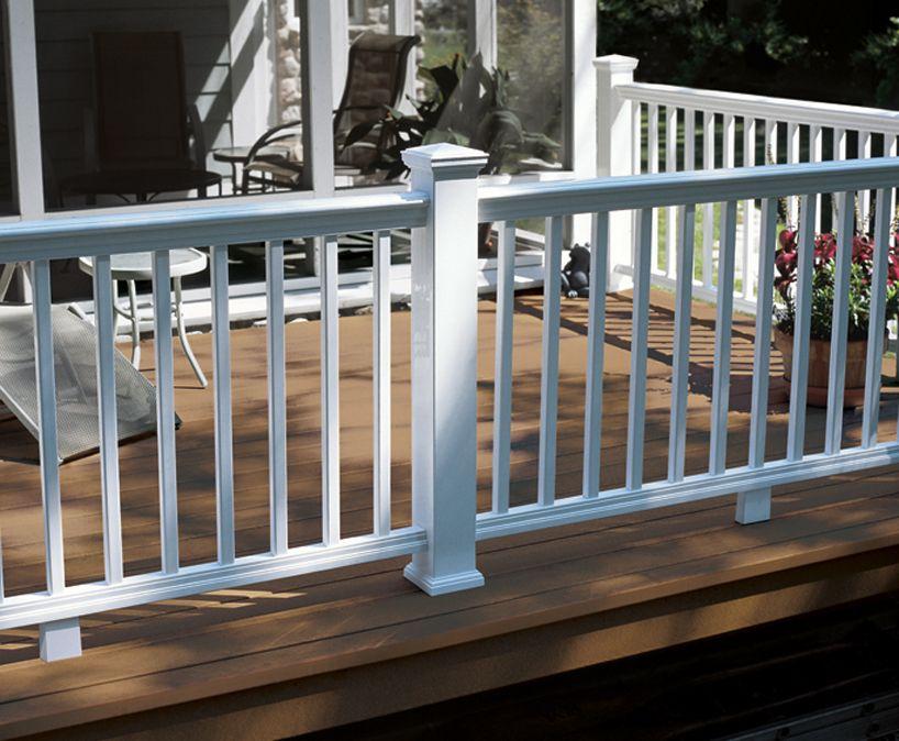 Panorama Composite Railing System Railing Fence Decking And Railing Certainteed Patio Railing Deck Balustrade Ideas Deck Railings