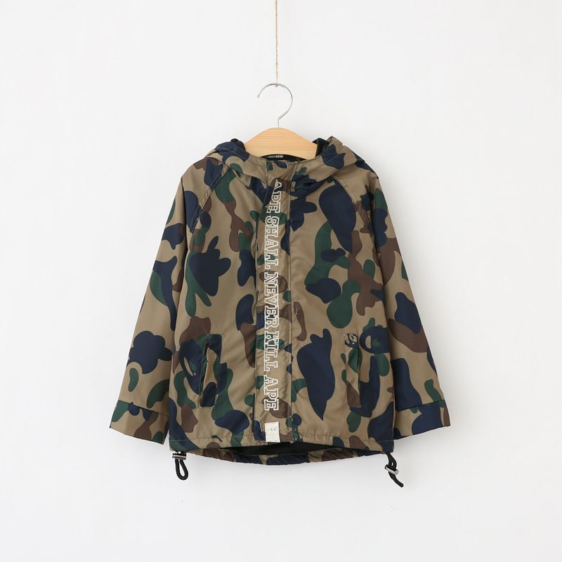 f472e23f3 Baby Boys Camouflage Coat Autumn Trench Outwear