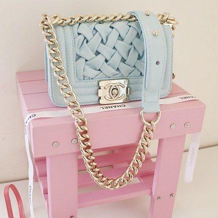 Pastel blue Chanel bag