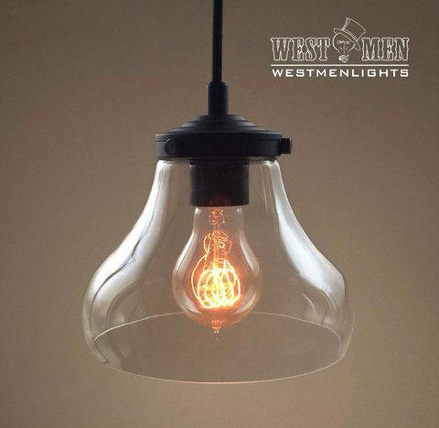 Bell 1 light clear glass pendant light vestbulos de poca y minis bell 1 light clear glass pendant light aloadofball Image collections