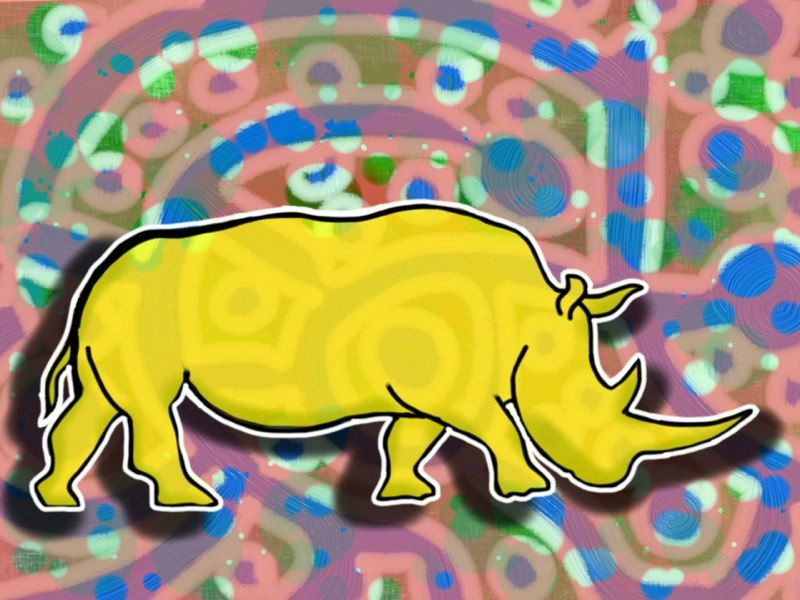 Rhinoceros #art #digitalart #tech #ipad