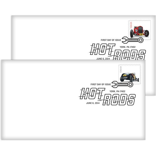 Hot Rods First Day Cover
