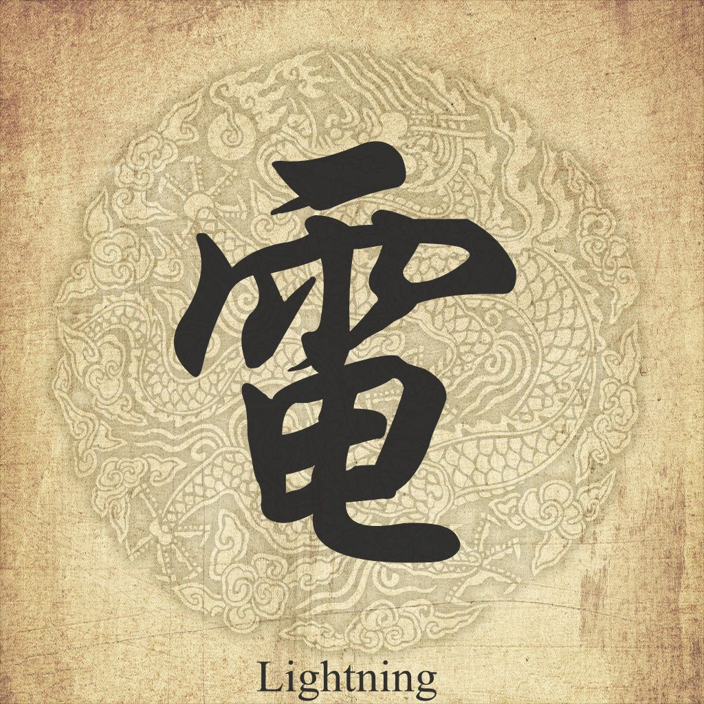 "Lighting"" in Chinese character 