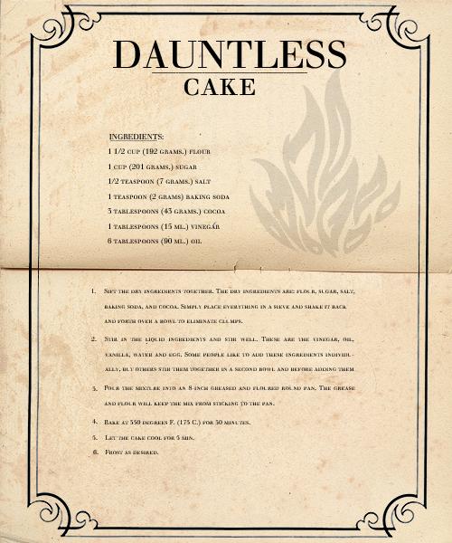 Dauntless Cake Recipe Veronica Roth