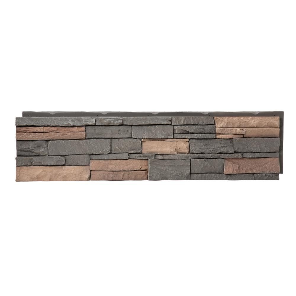 Genstone Stacked Stone Stratford 12 In X 42 In Faux Stone Siding Panel G2sssthp The Home Depot In 2020 Faux Stone Veneer Stone Siding Panels Stone Siding