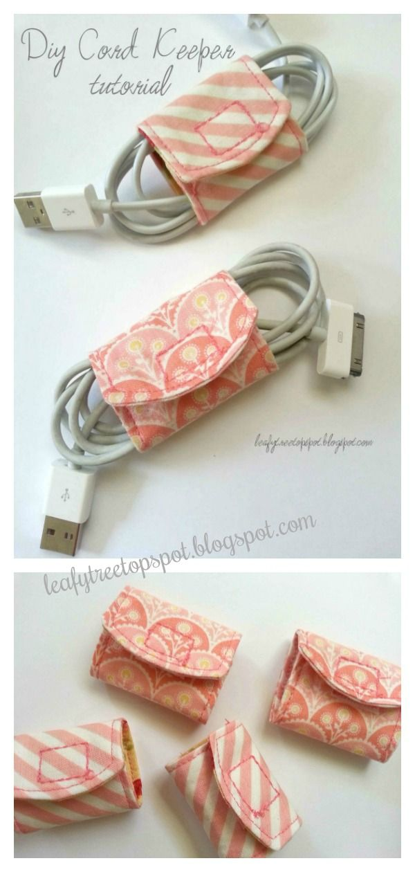 Fabric Cord Keeper Free Sewing Pattern -   18 fabric crafts to sell gift ideas