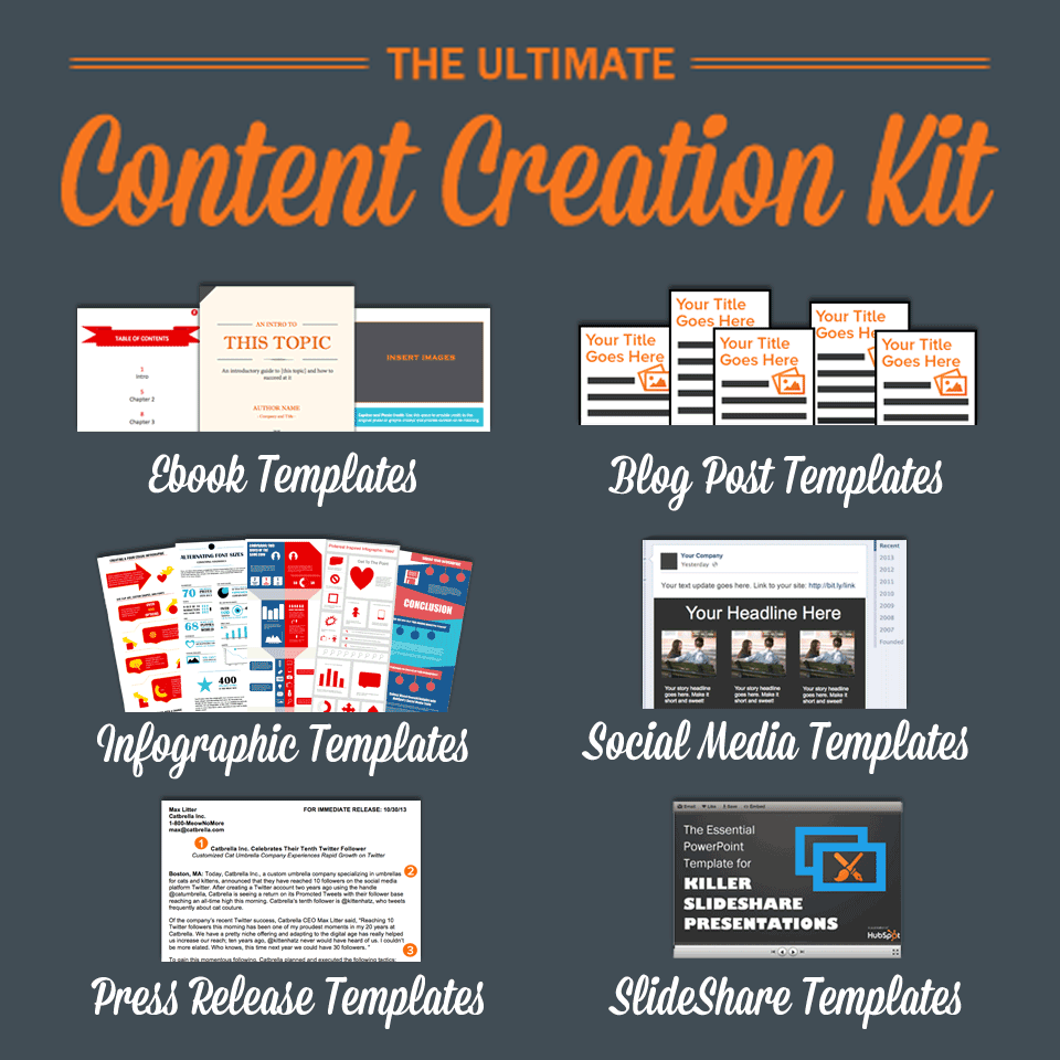 The Ultimate Kit of Content Creation Templates  {Thank you