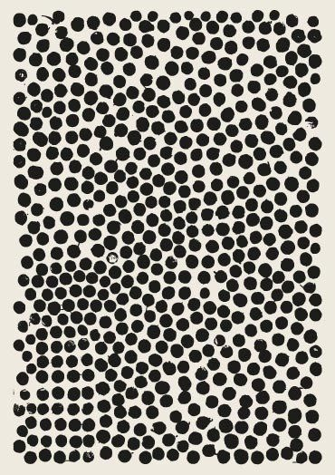 Lots of dots artwork black and white decor polka dot artwork