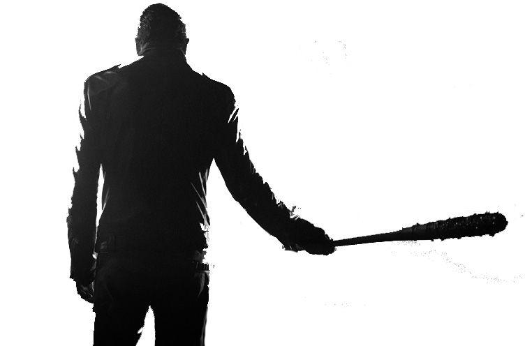 Negan Baseball Bat Silhouette The Walking Dead Com Imagens The