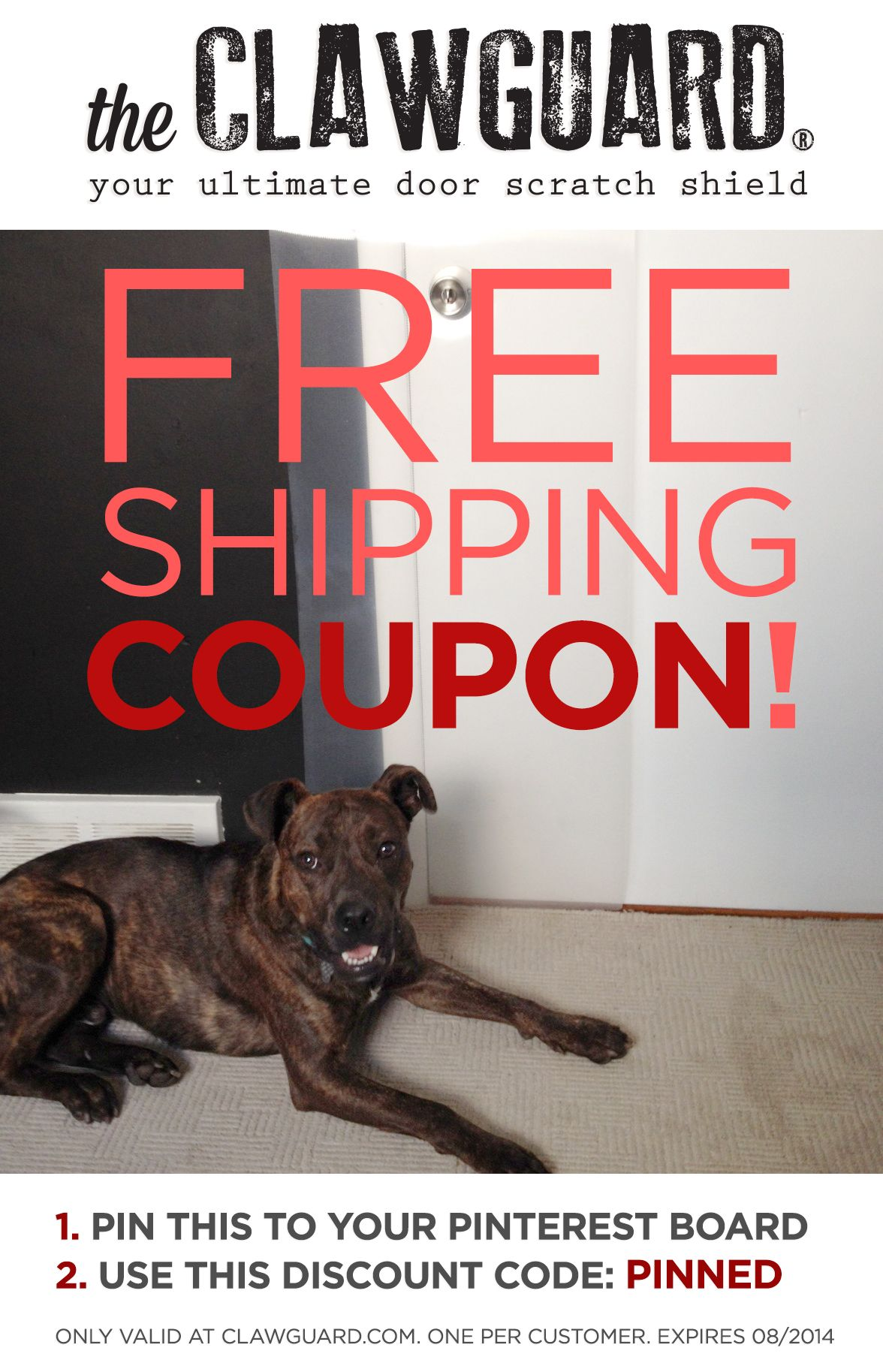 Get This Code Before It Expires Re Pin This And Get Free Shipping Discount Before August 1st 2014 Clawguard Com Pets Door Scratching Dog Scratching Door