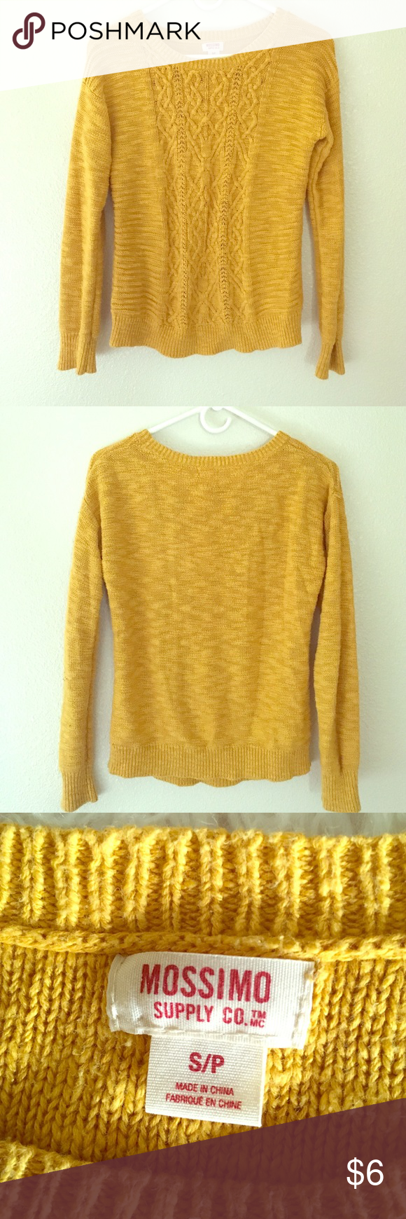Mustard Yellow Cable knit Sweater | Cable knit sweaters, Cable ...