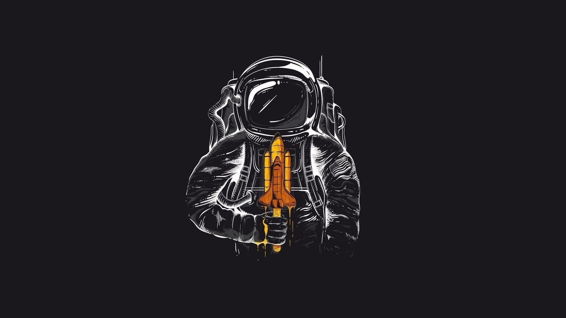 General 1920x1080 astronaut space simple background