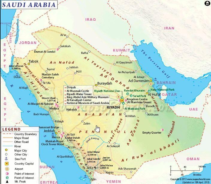 الرمز البريدي لمدن المملكة العربية السعودية Tourist Map Map Saudi Arabia
