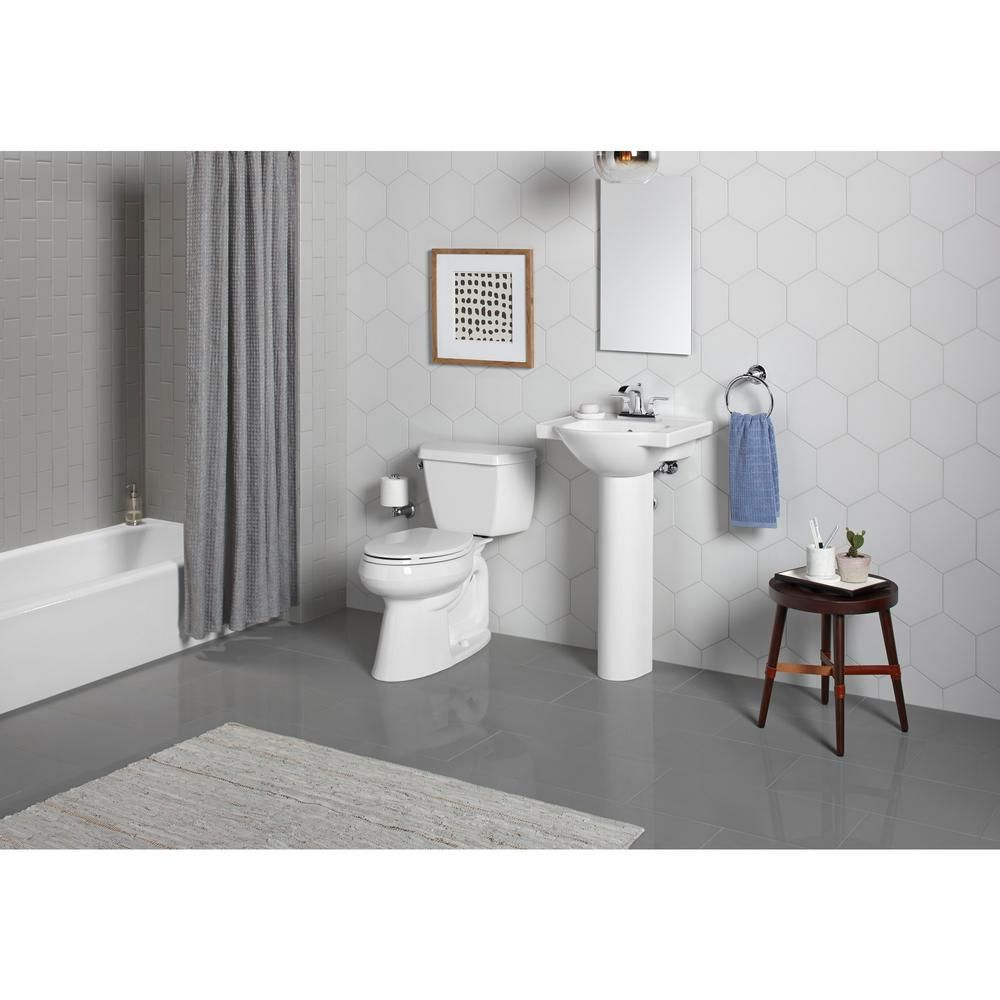 Veer 21 In Vitreous China Pedestal Combo Bathroom Sink In White