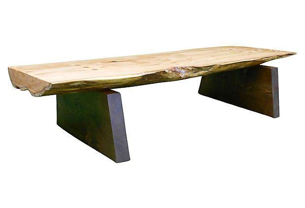 Alaska Cedar Slab Coffee Table On OneKingsLane.com