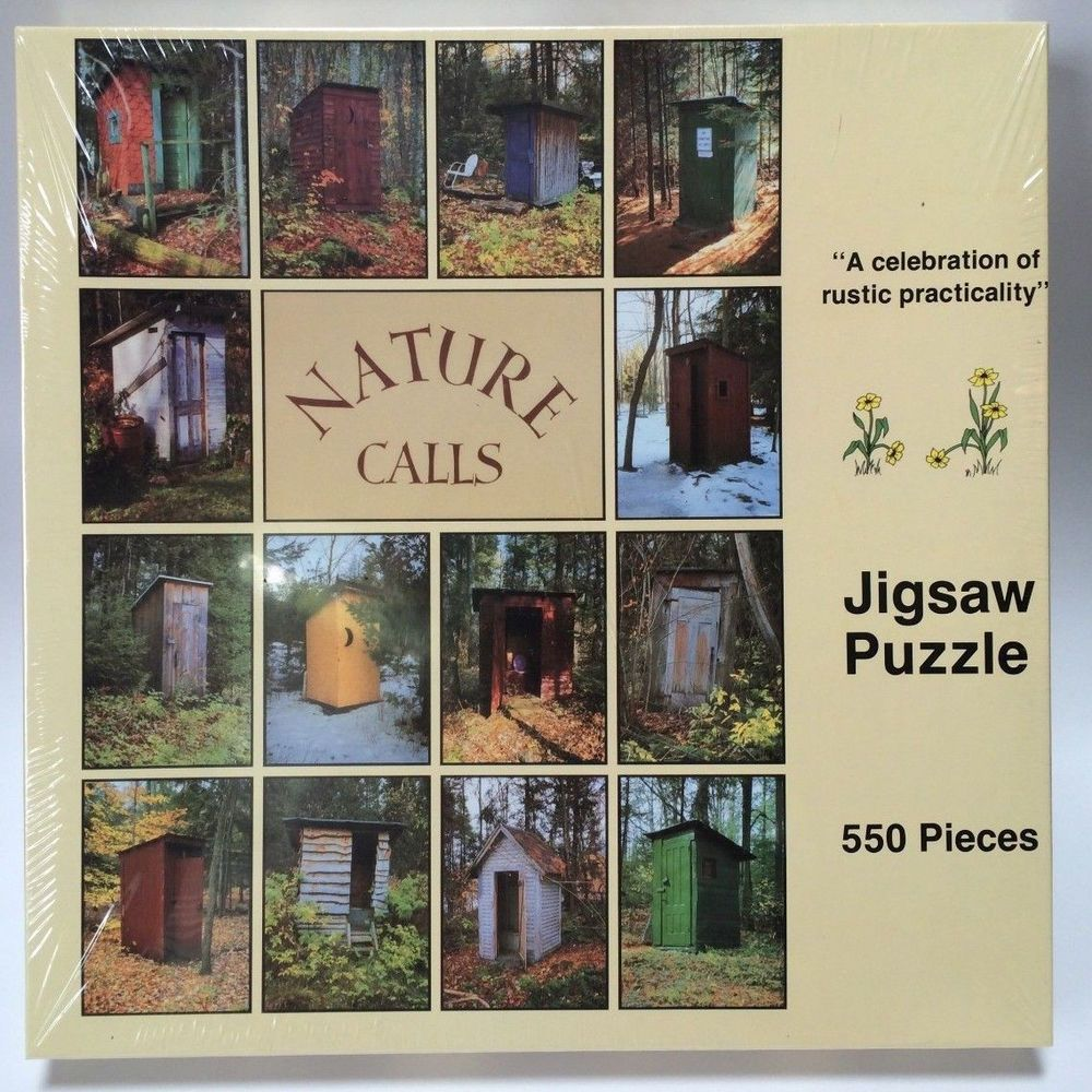 Nature Calls 550 Piece Jigsaw Puzzle Rustic Outhouses Bathrooms New Sealed  #NatureCalls #puzzle #outhouse #rustic