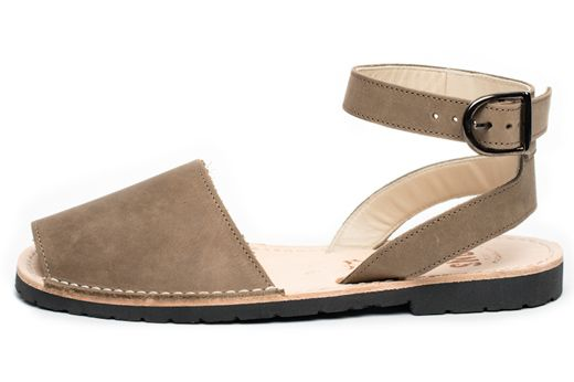 Avarca sandal, aka menorquina, Classic Style Strap avarca Pons in Taupe color by…