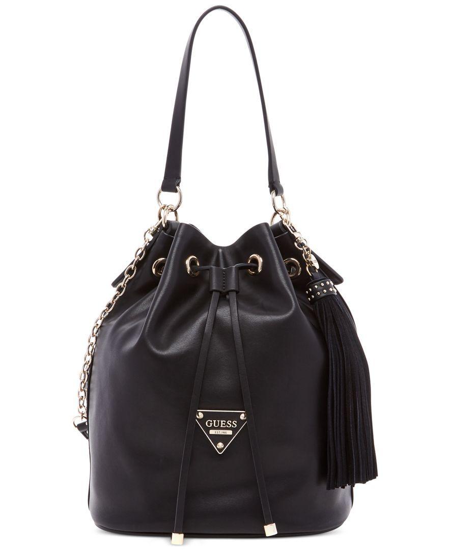 Guess Thompson Drawstring Bucket Bag Online Bags 8968a8d8c4