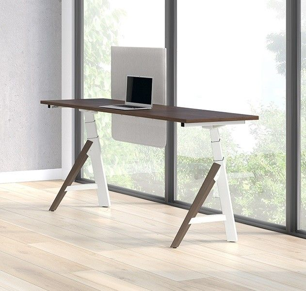 Lacasse Height Adjustable Desk A Base Stad Standing Desk Sit Stand Up Desk Office Desks Adjustable Height Desk Adjustable Desk Office Furniture Design