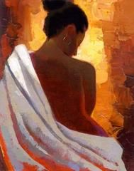 Crimson Nude by Keith Mallett | The Black Art Depot
