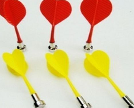 Domire 6 Pcs Bullseye Target Red Yellow Plastic Wing Magnetic Darts Needle These darts swap the usual sharp point for a magnetic tip - making them safe for younger players. Designed to be used with magnetic dartboards (sold separately). The dart (Barcode EAN = 0711508671271) http://www.comparestoreprices.co.uk/december-2016-week-1/domire-6-pcs-bullseye-target-red-yellow-plastic-wing-magnetic-darts-needle.asp