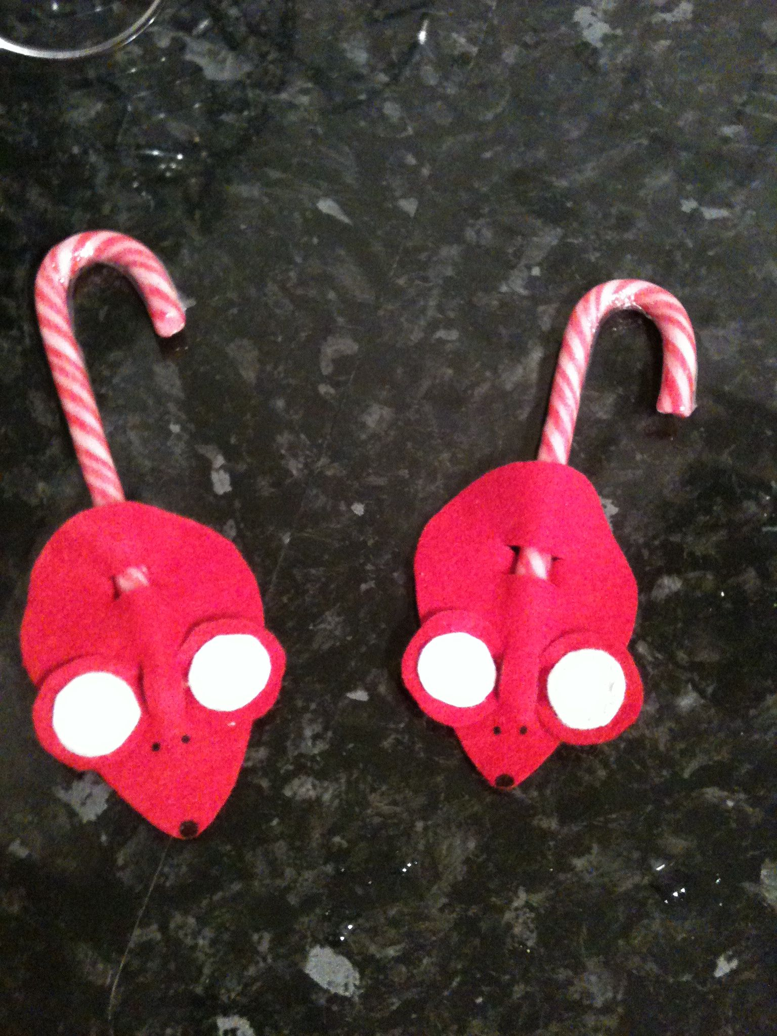 Christmas Felt Candy Cane Mice