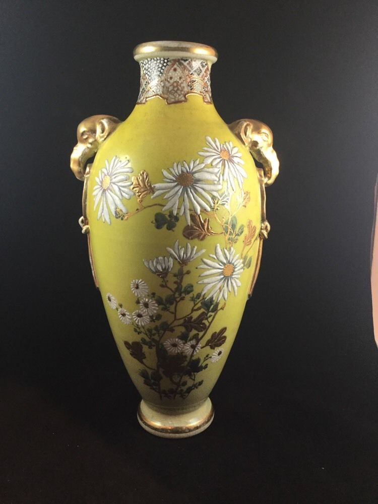 Antique Hand Painted Nippon Vase 14 Inches Nippon Stuff To Buy