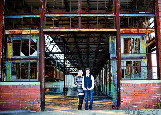 Abandoned Warehouse Urban Engagement Session Jacksonville Fl